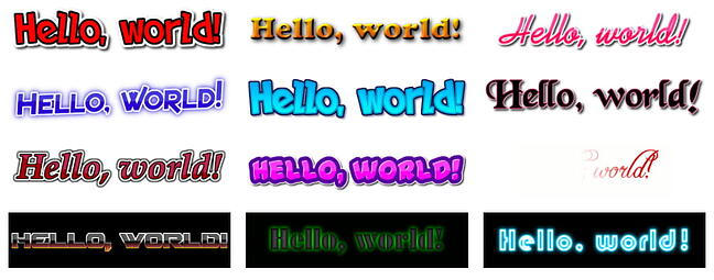 Flaming Text font generator example