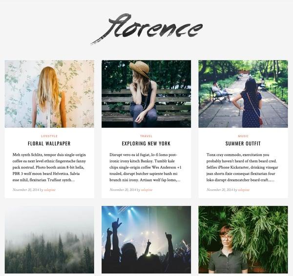 florence tumblr style wordpress personal blog demo