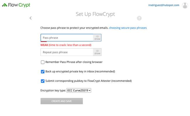 پسوند Chrome Flowcrypt