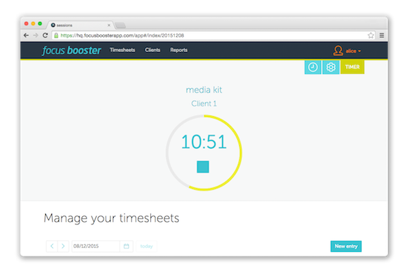 focus booster time management app