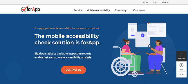 forApp is an automated accessibility testing tool for mobile applications