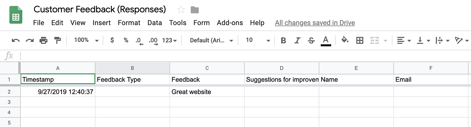 form responses in spreadsheet add Google Forms WordPress