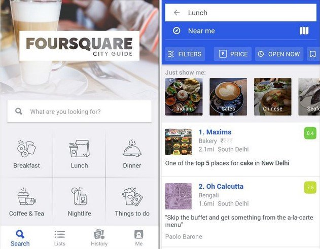 Foursquare city guide mobile app  15 of the Best Lifestyle Mobile Apps You Need in Your Pocket foursquare city guide mobile app