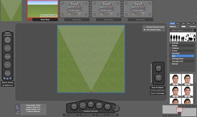 Storyboarding software by FrameForge