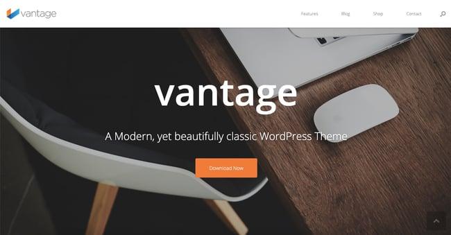 free responsive wordpress theme Vantage
