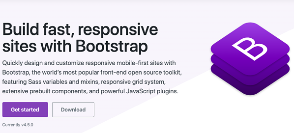 free web design tool bootstrap getting started page