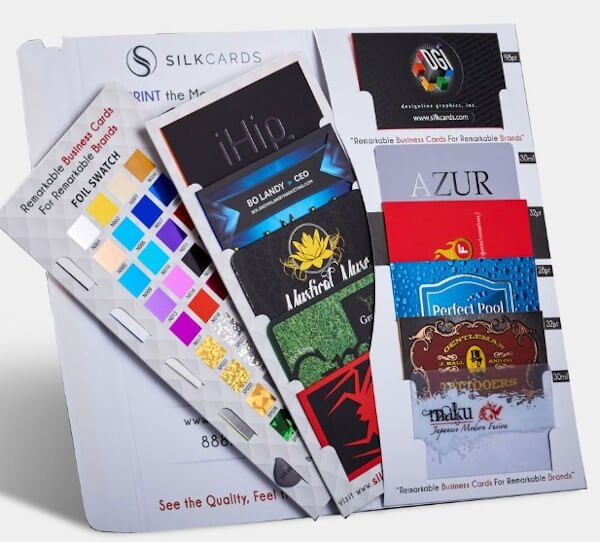 free sample example from 4colorprint that depicts a pack of sample business cards