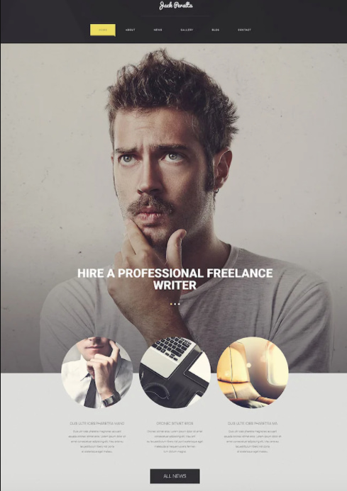 freelance writer is one of the best parallax wordpress themes