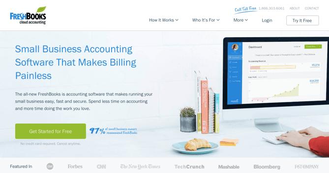freshbooks homepage updatepng - Best Home Page Design