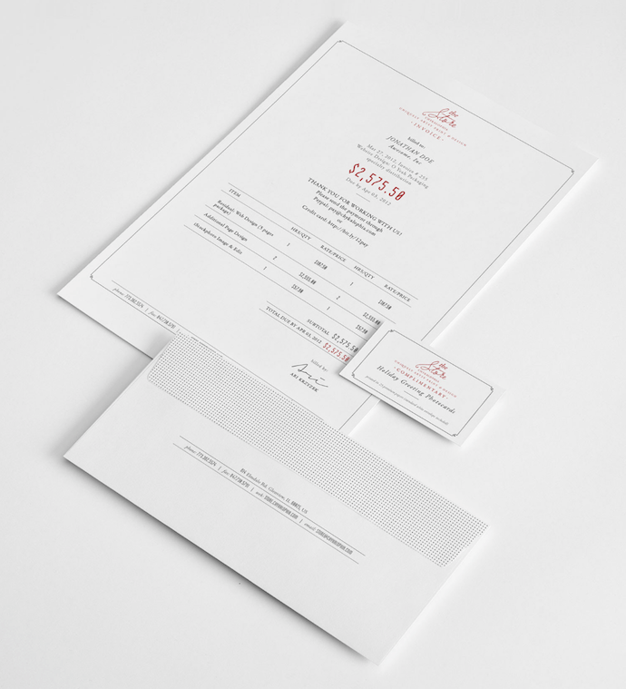 front-and-center-invoice