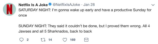 netflix is a joke twitter