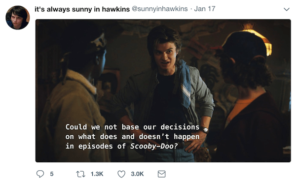 it's always sunny in hawkins parody twitter account of stanger things