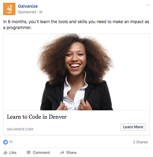 how to add a headline to a facebook ad