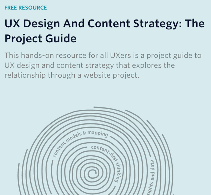 Pillar page on UX design and content strategy by GatherContent