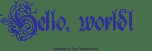 Demostración de texto gótico generada por Font Generator