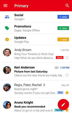 Gmail mobile app for tracking your tasks and goals