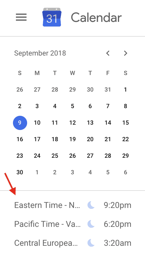 google-calendar-world-clock