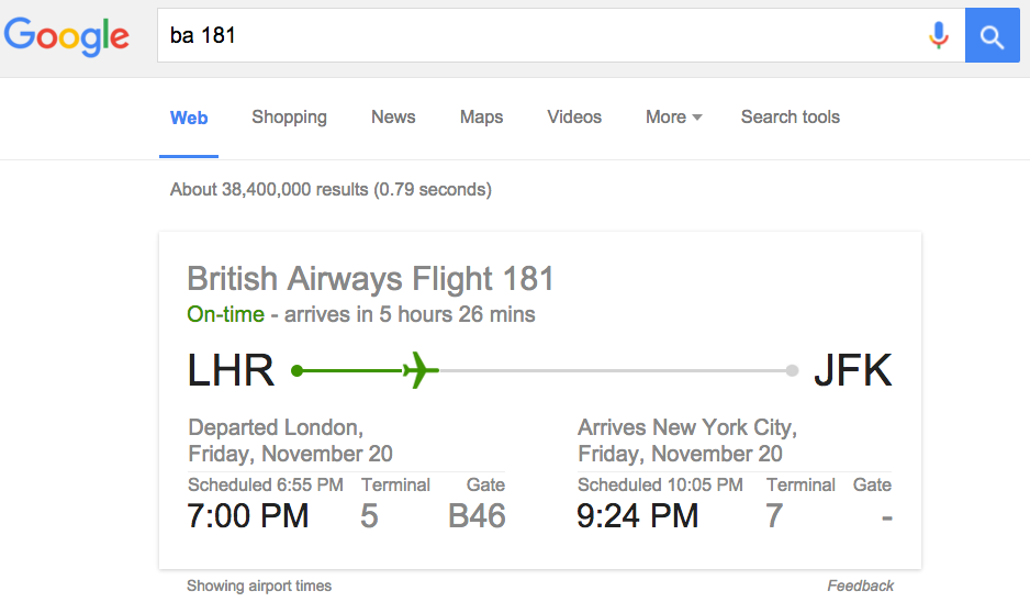 google-flight-status.png  How to Search on Google: 31 Google Advanced Search Tips google flight status