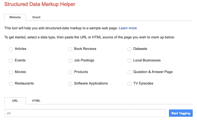 google-structured-data-markup-helper