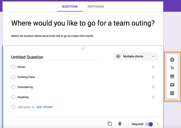 how to create a survey in google forms step 5