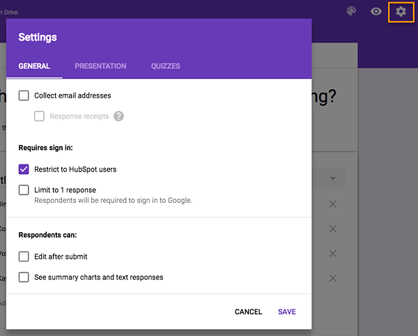 how to create a survey in google forms step 6