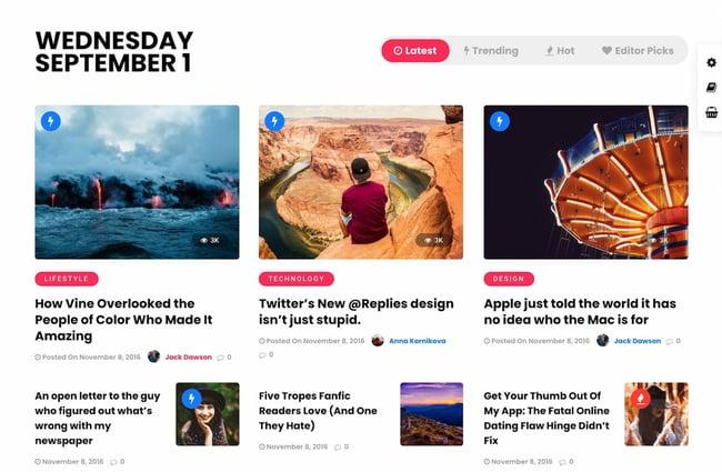 Best viral WordPress themes: Grand Magazine