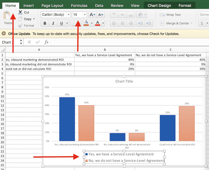 How to make a chart or graph in excel with video tutorial increased size of legend labels in excel chart ccuart Choice Image