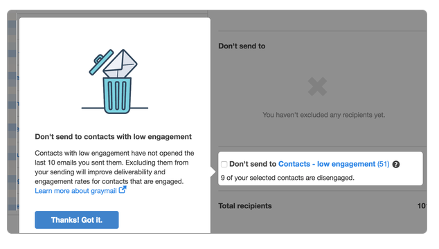 HubSpot will automatically gather your contacts who are not engaged