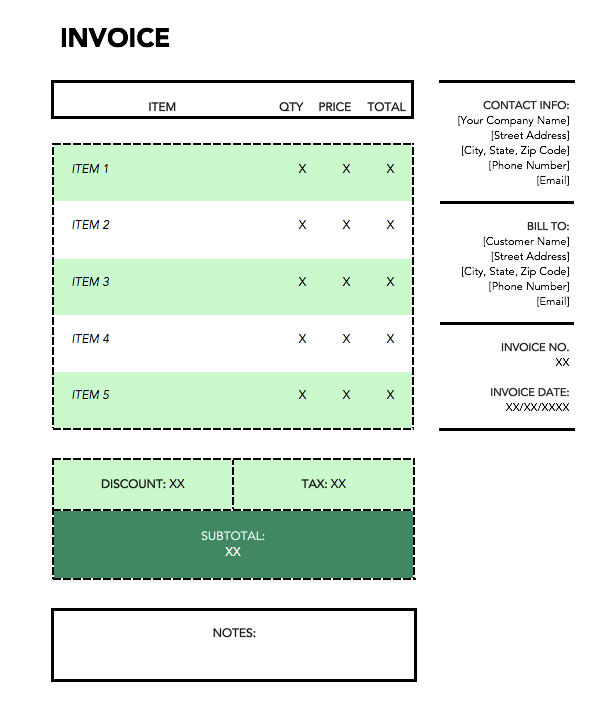 green-shipping-invoice-template