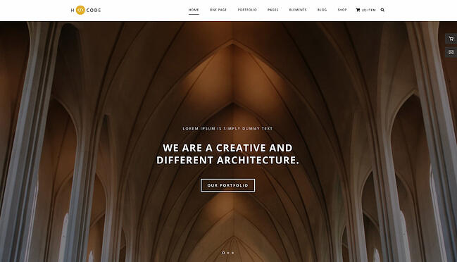 One-page WordPress theme demo for H-Code