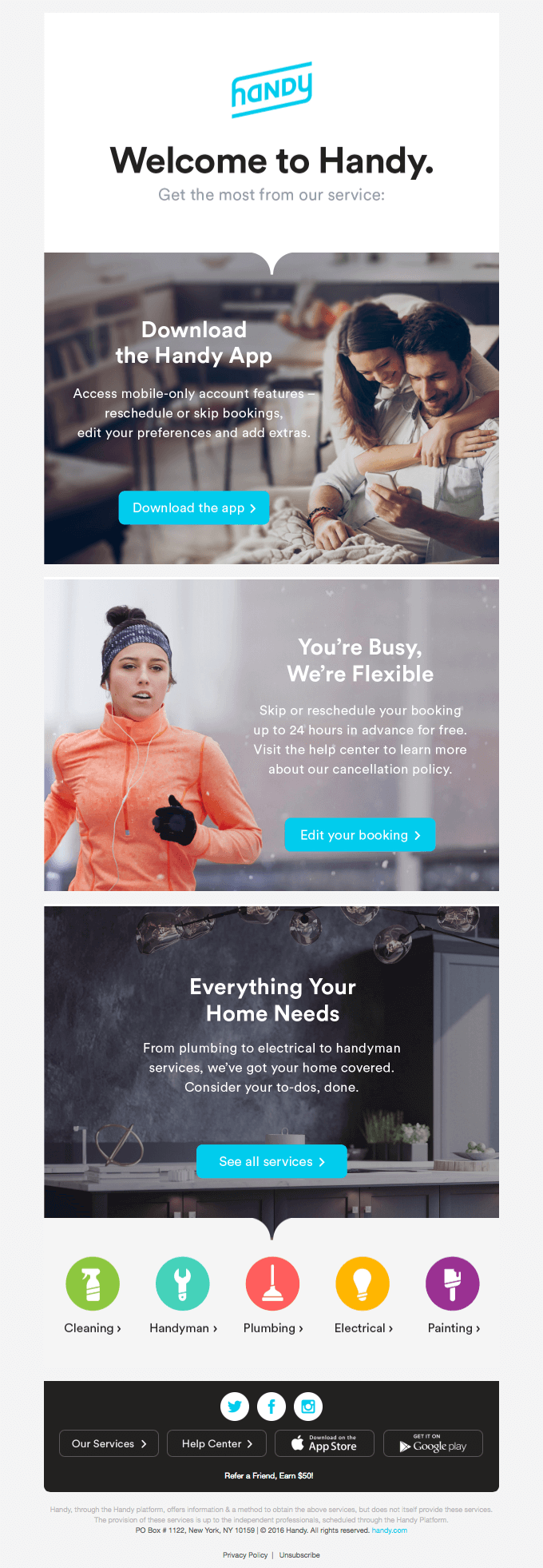 13 of the best examples of beautiful email design handy email exampleg pronofoot35fo Gallery
