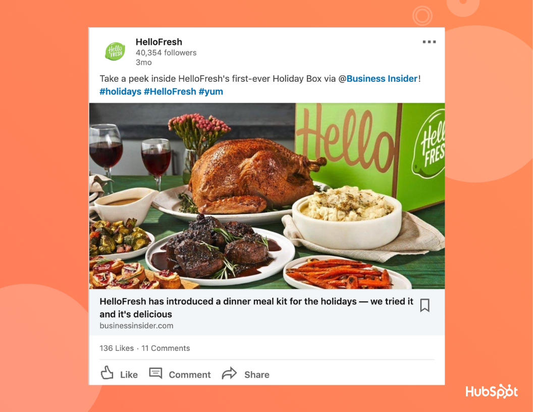 hellofreshlinkedinad