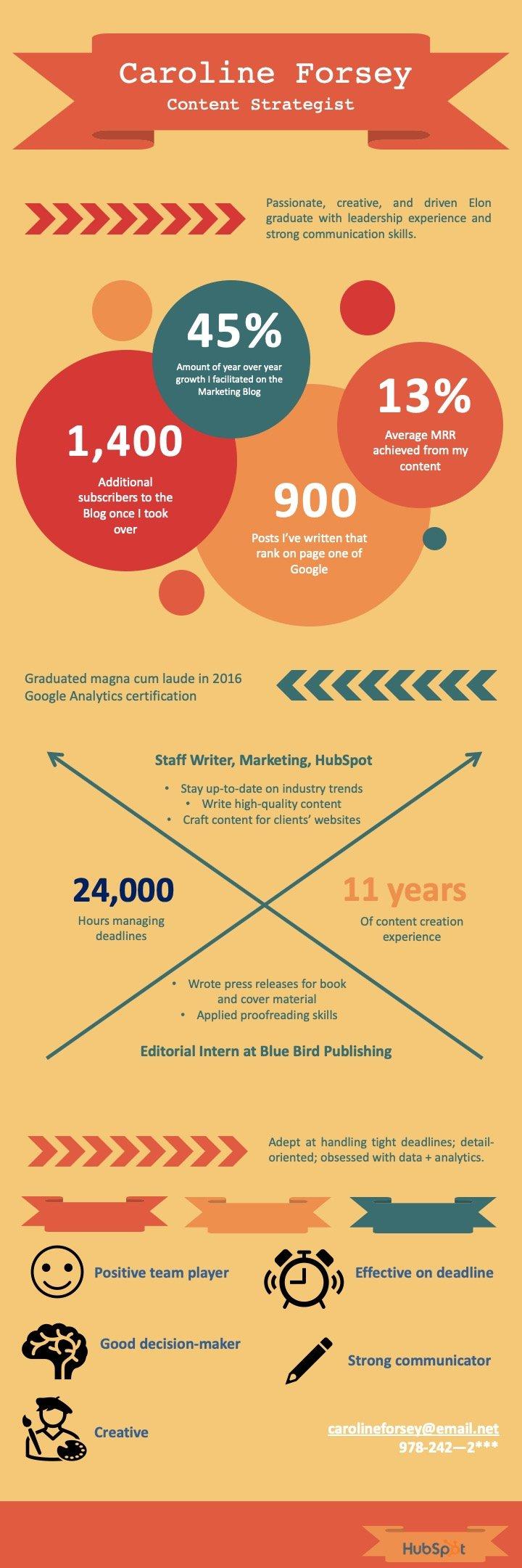 Infographic resume example 2