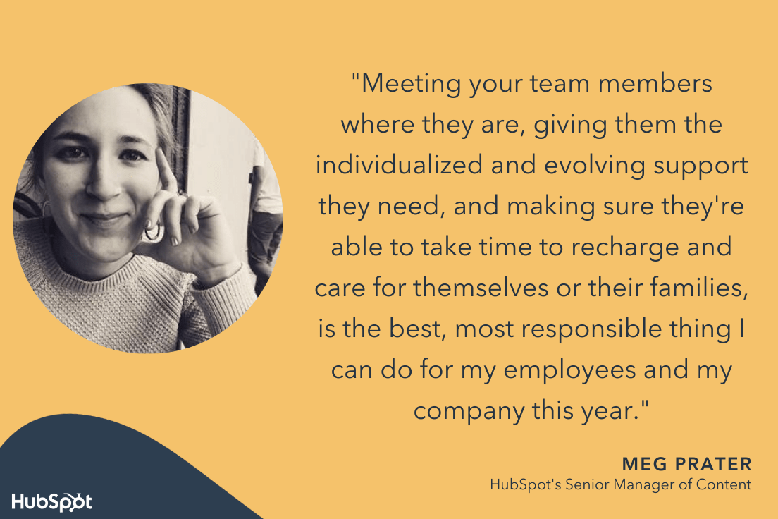 how to boost team productivity in 2022 according to hubspot manager Meg Prater