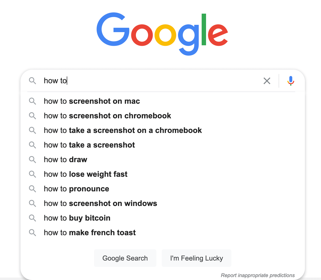 "someone searching ""how to"" on Google"