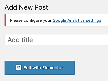how to edit new post with Elementor