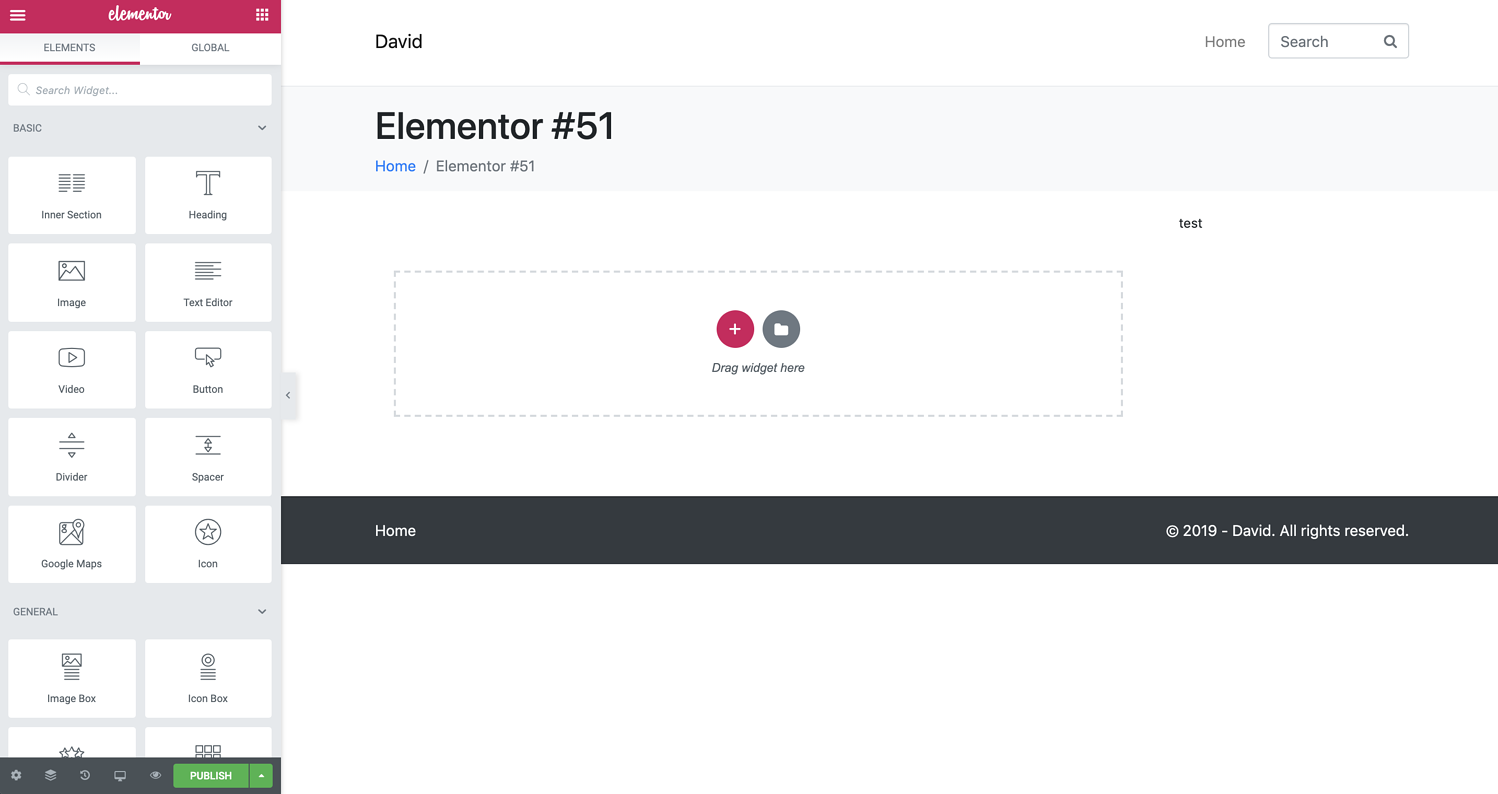 how to use Elementor editor