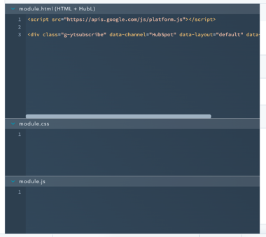 the HTML editor window in CMS Hub