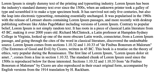 a plain text file full of dummy text