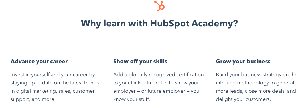 hubspot academy messaging example