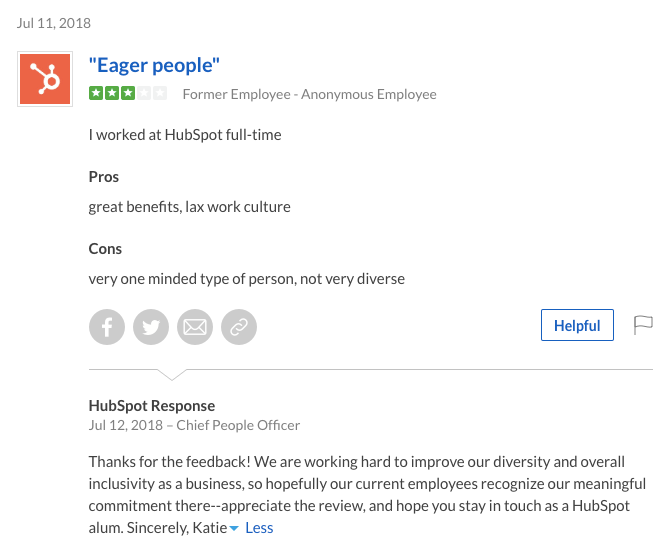 hubspot glassdoor