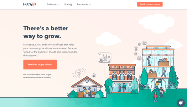 hubspot home page