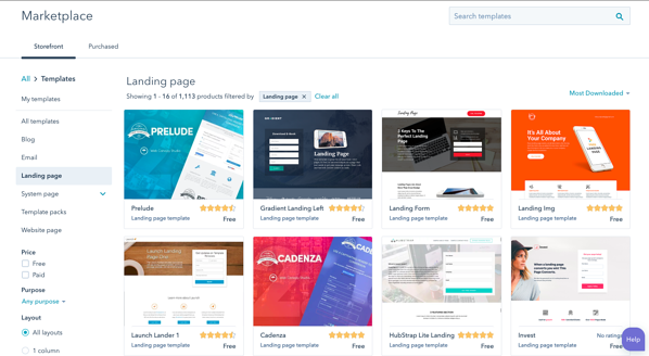 hubspot marketplace example
