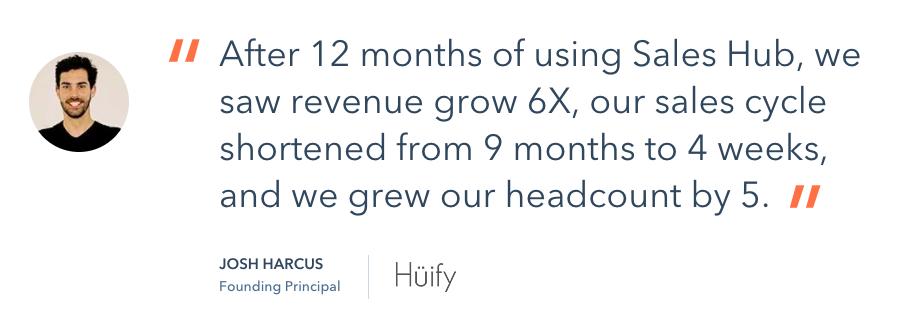 hubspot sales hub testimonial