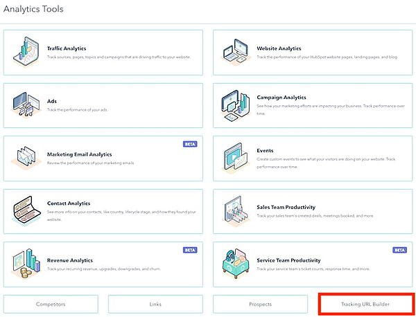 How to Build UTM Codes in HubSpot: open the tracking url builder