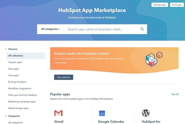 HubSpot App Marketplace sales prospecting tool