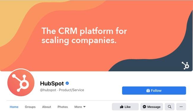 HubSpot Facebook cover photo