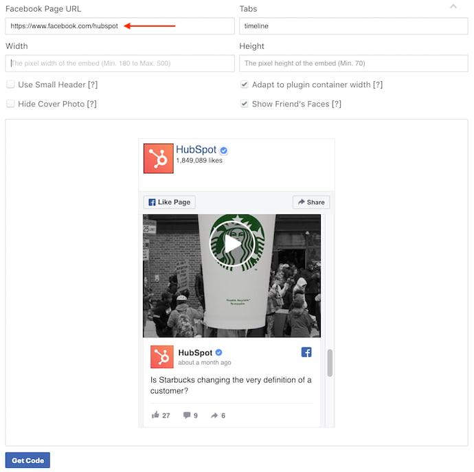 hubspot-facebook-page-plugin