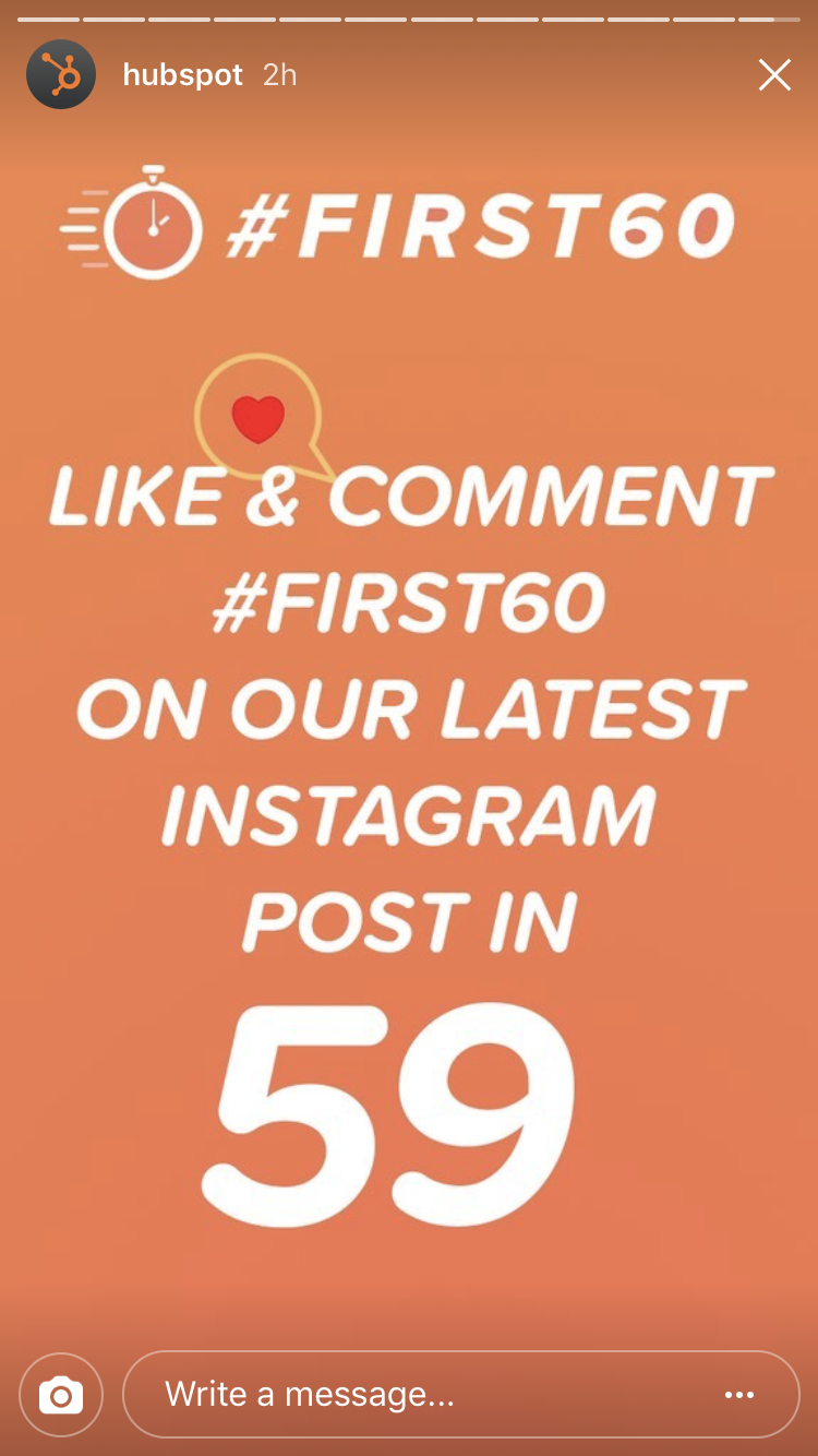 hubspot-first60-instagram.png  How We're Using Influencers to Drive Engagement on Social Media: A HubSpot Experiment hubspot first60 instagram