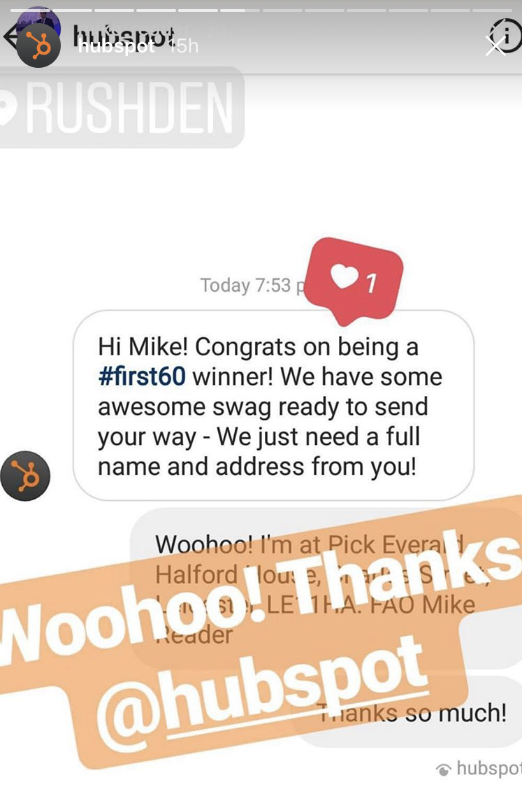 hubspot-first60-instagram1.png  How We're Using Influencers to Drive Engagement on Social Media: A HubSpot Experiment hubspot first60 instagram1